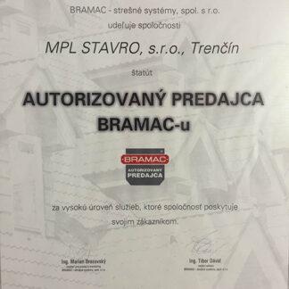 Bramac certifikát