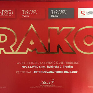 Rako certifikát