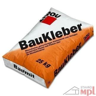Cementové lepidlo BauKleber 25kg (Balenie 25 kg, Farba šedý)