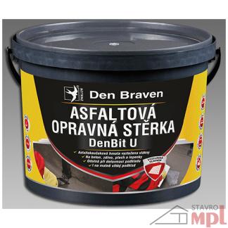 DenBit Asfaltová opravná stierka U 5kg (Balenie 5 kg, Farba čierna)