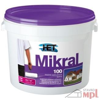 HET Fasádna čisto akrylatová hladka farba Mikral 100
