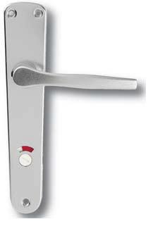 Kovanie LUX (Povrch hliník strieborný F1, Rozteč 72, Typ otvoru WC)