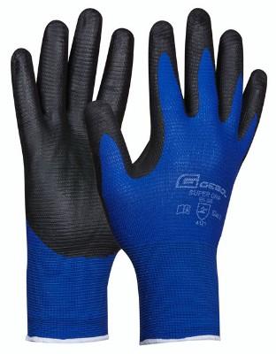 Pracovné rukavice pre montáž.práce Super Grip, bezšvové (Prevedenie čierno-modrá, Veľkosť 10)