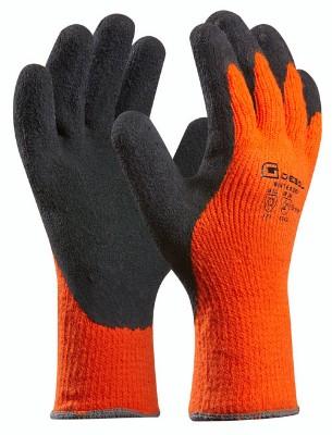 Pracovné rukavice Thermo Wintergrip (Prevedenie čierno-oranžová, Veľkosť 8)