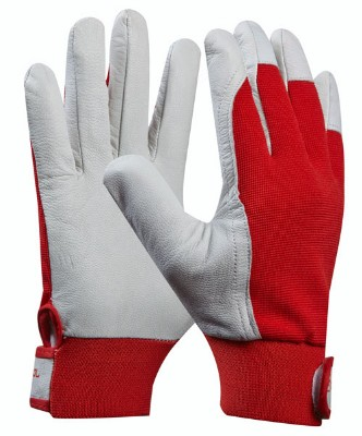 Záhradné rukavice z kozej kože (Prevedenie čierna, Veľkosť 11)